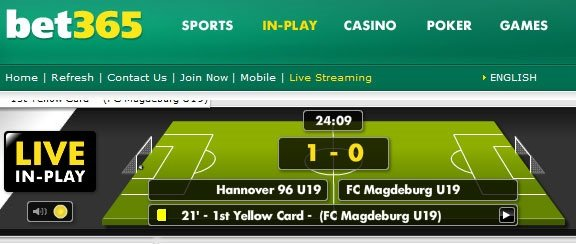bet365 live score