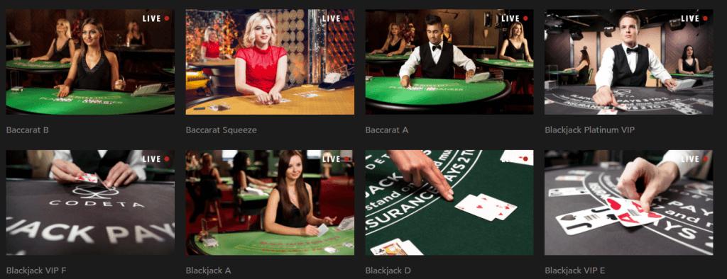 Live Games at Codeta Casino