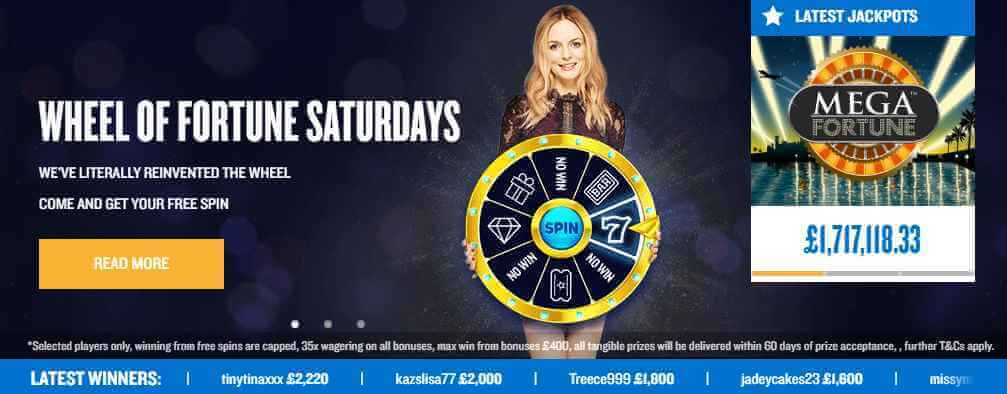 Foxy Casino Wheel of fortune