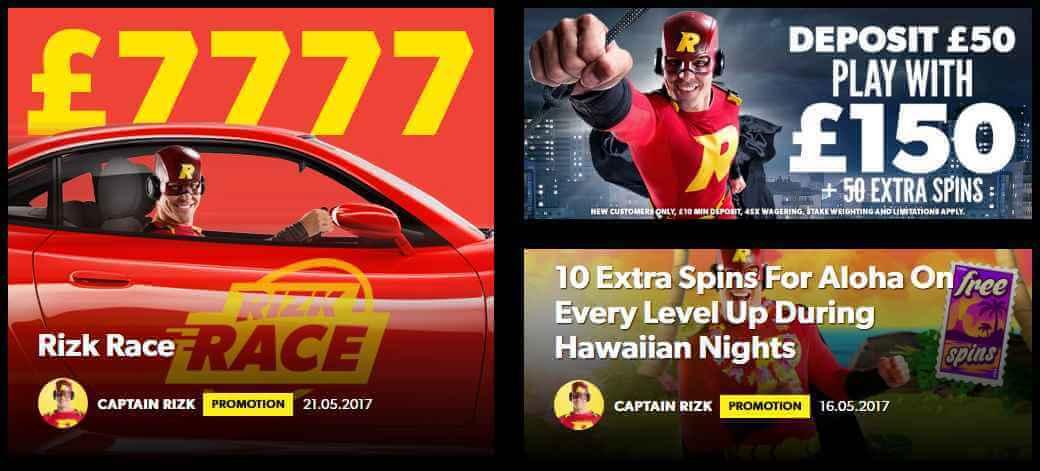 Rizk Casino Promotions