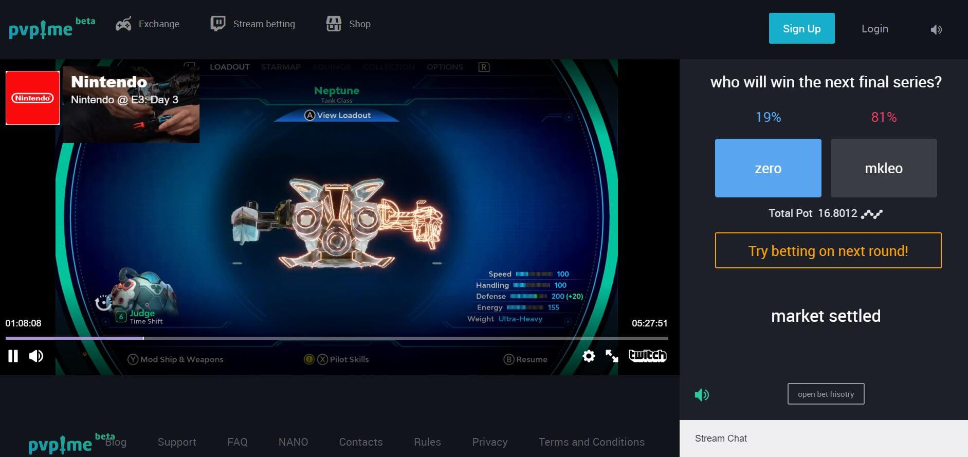 PVP.ME Stream Betting With Twitch