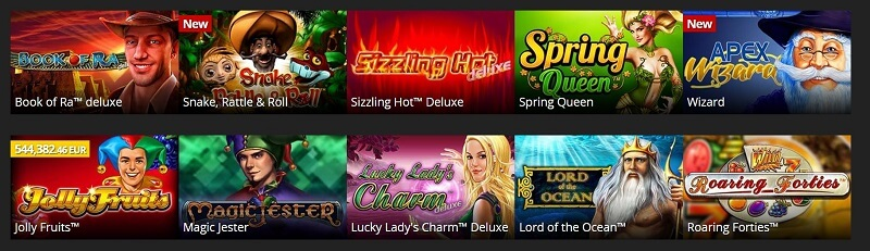 Energy Casino online games