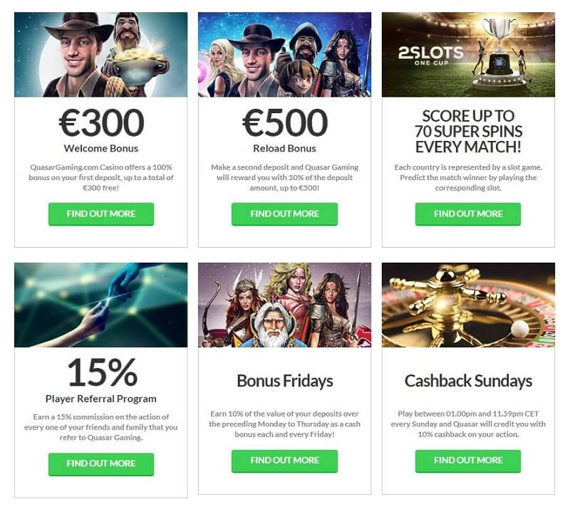 Quasar Gaming Promotions