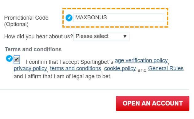 Sportingbet promotional code