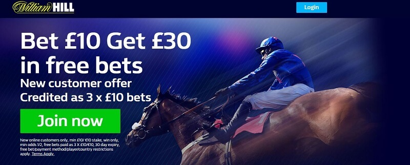 William Hill free bet bonus