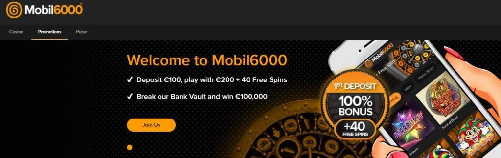 Mobil6000 Welcome Bonus