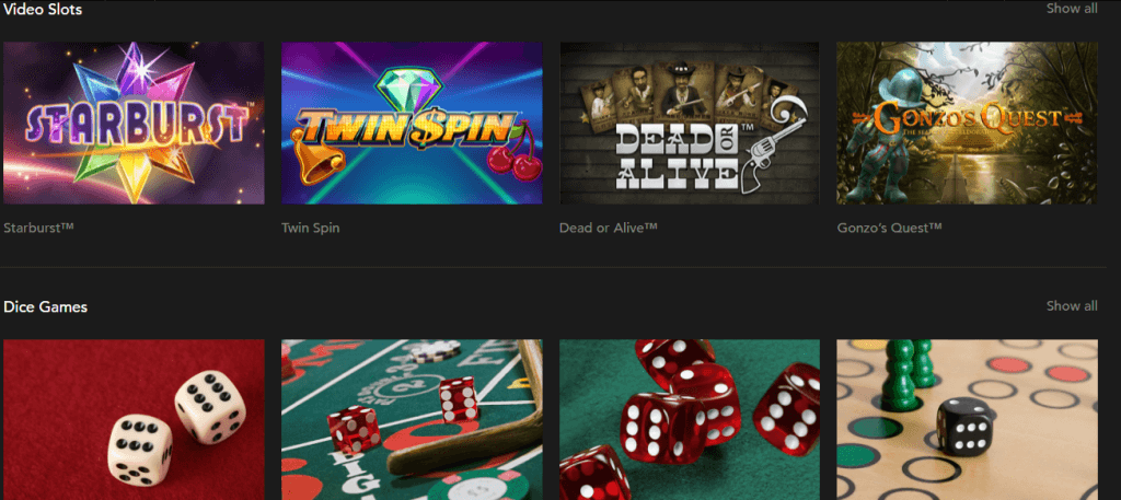 Games at Codeta Casino
