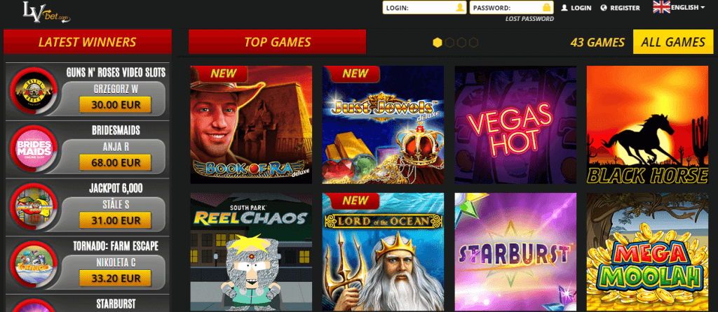 Lvbet Casino for UK Players - Games