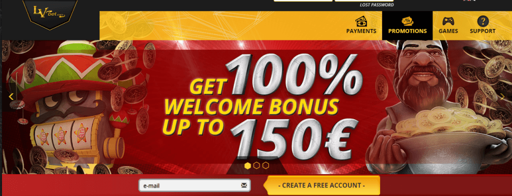lvbet casino homepage