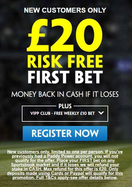 paddy power sign up offer risk free