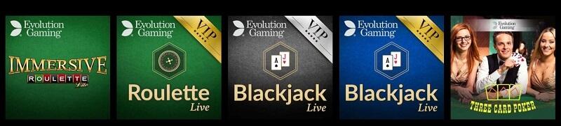Rizk Live Casino Games