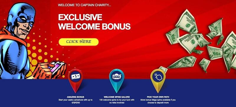 Capitan Charity bonus code offer