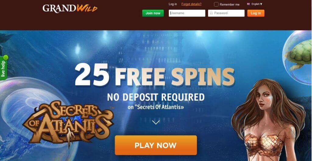 Grand Wild Casino Free Spins