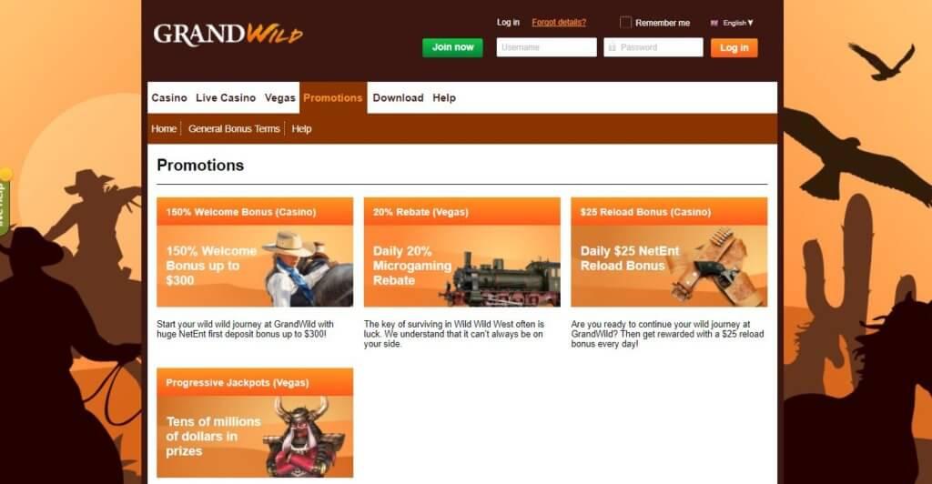 Grand Wild Casino Promotions
