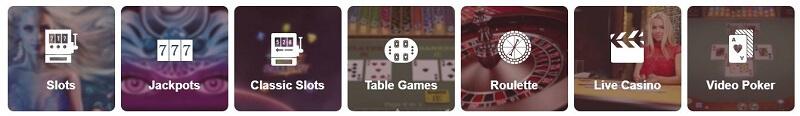 Omnia Casino games