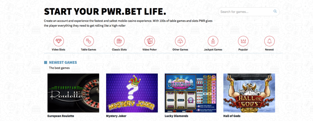 PWR.BET Games