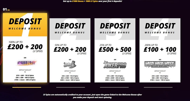 LVBet bonus and free spins