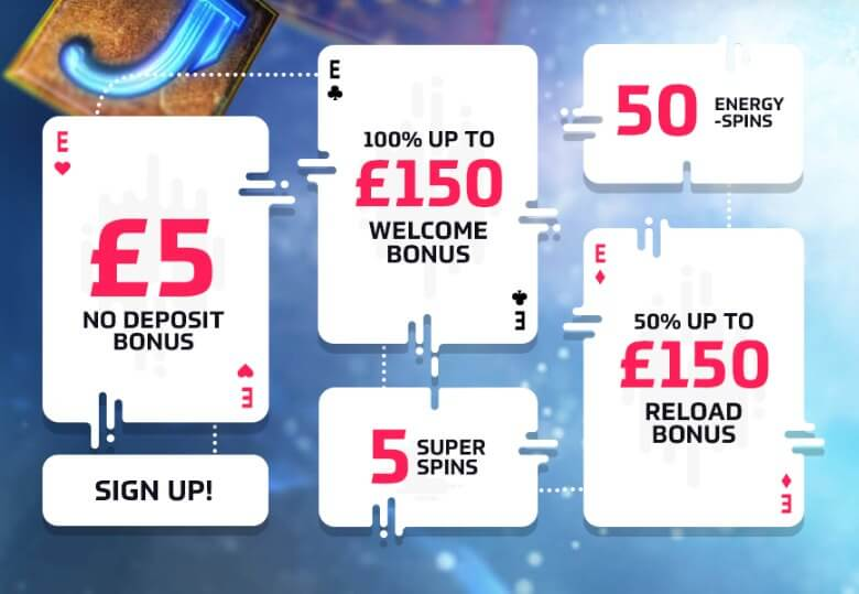Energy Casino Promocode bonus offer