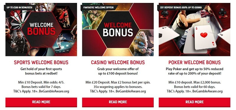 Redbet promotions
