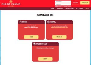Online Casino London Customer Support