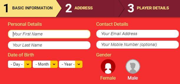 Online Casino London Registration Form