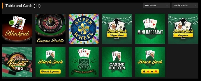 Premier Punt Table Games