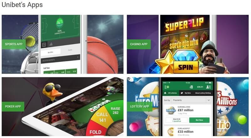 Unibet mobile apps