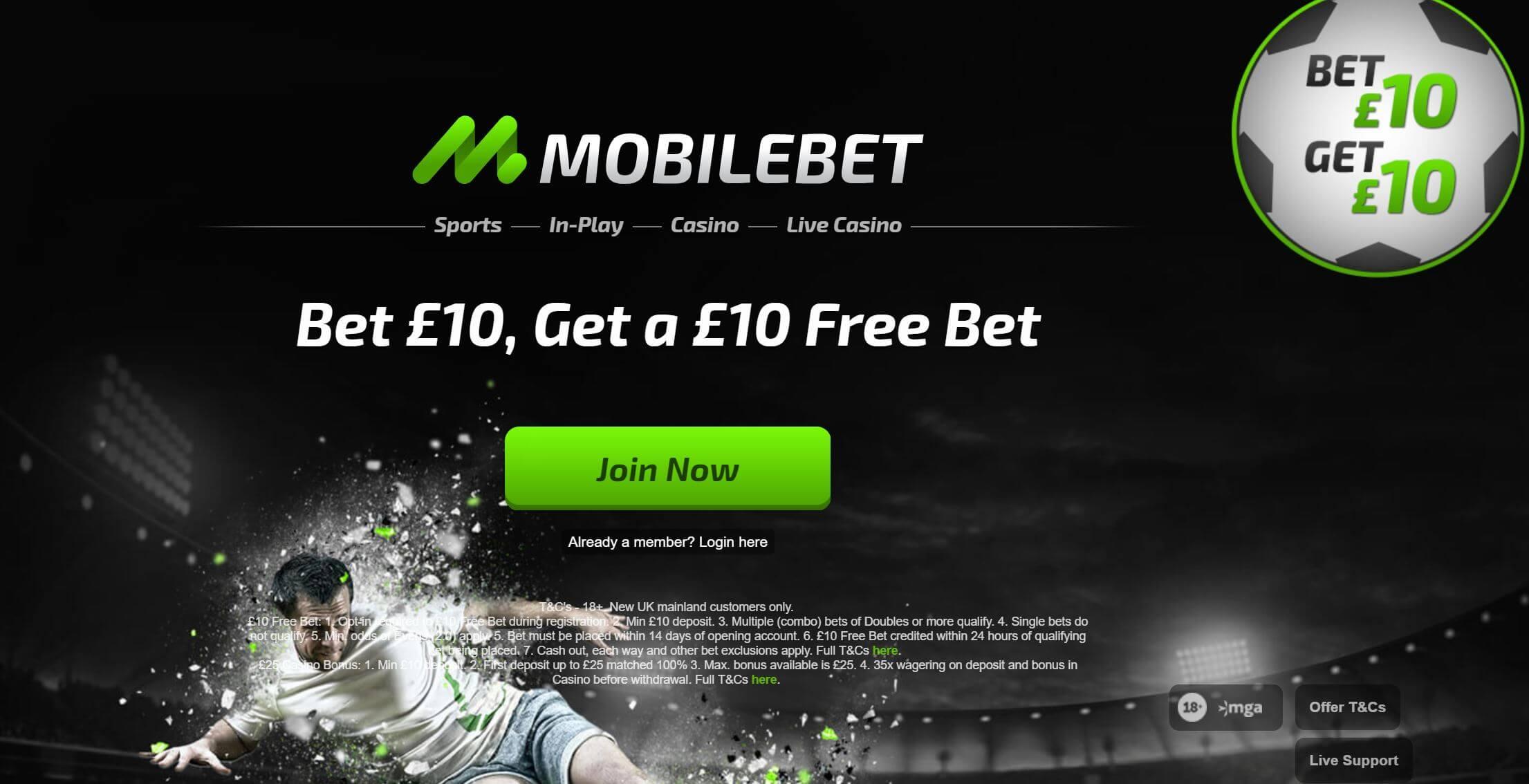 Mobilebet sports bonus