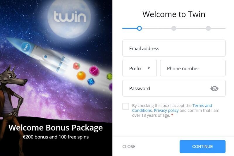Twin Casino bonus code