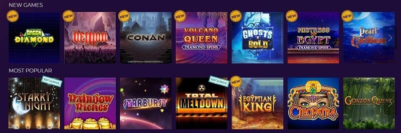 Winstar Casino games