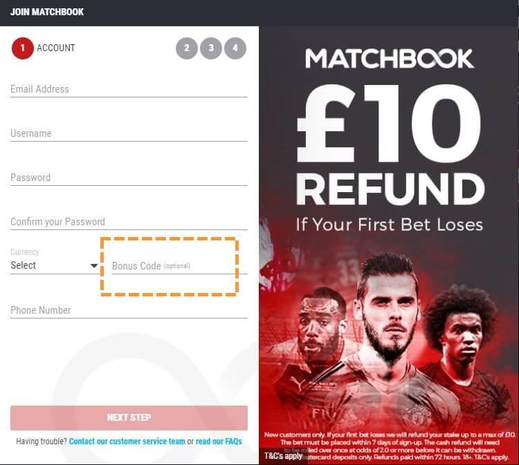 Matchbook bonus code