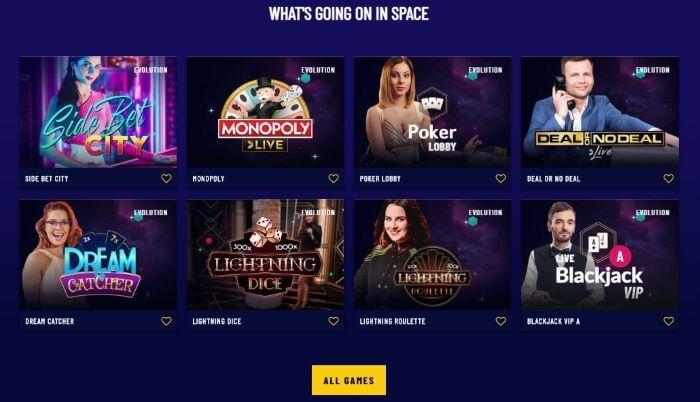 Space Casino Games