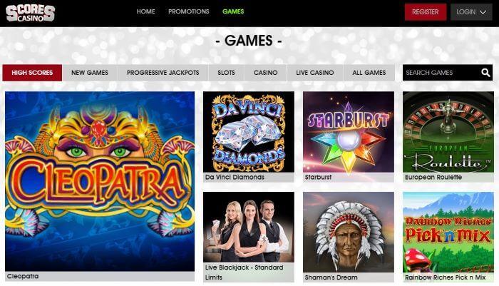 Scores Casino Games