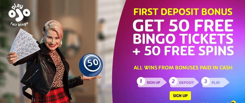 PlayOjo bingo bonus