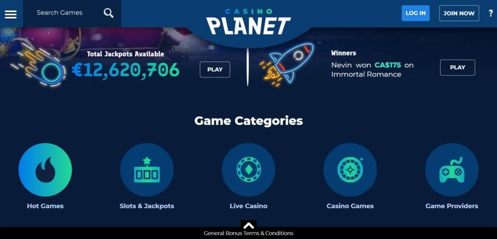 Casino Planet Online Casino