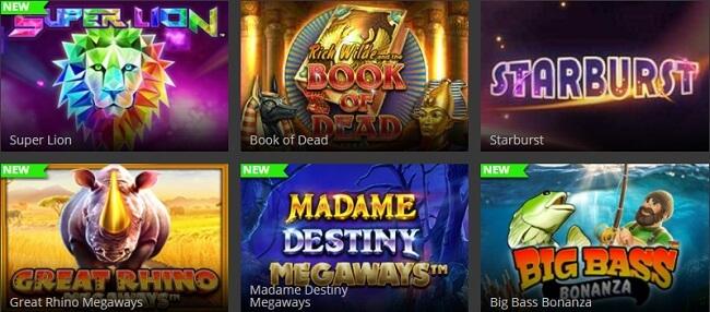 HeySpin Casino Games