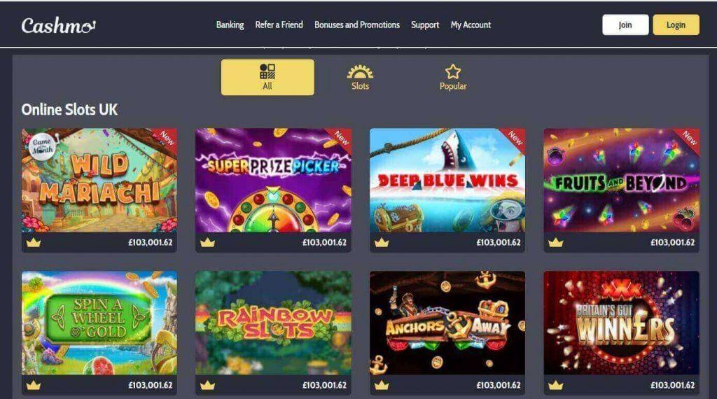 Cashmo Casino Games