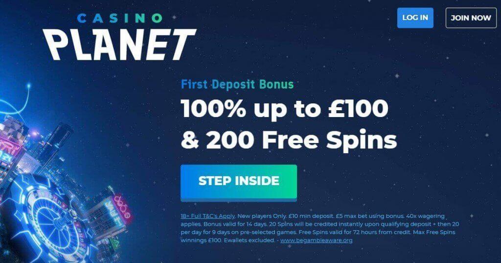 Casino Planet Bonus